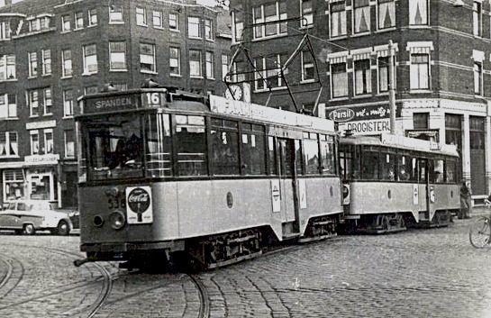 RET Tram Lijn 16 Spangen 1960
