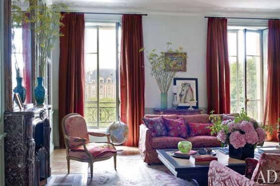 [Blog with Design Tips] Aubusson Rugs Bring French Art to 4 Interiors. Interior design by Jacques Garcia.
