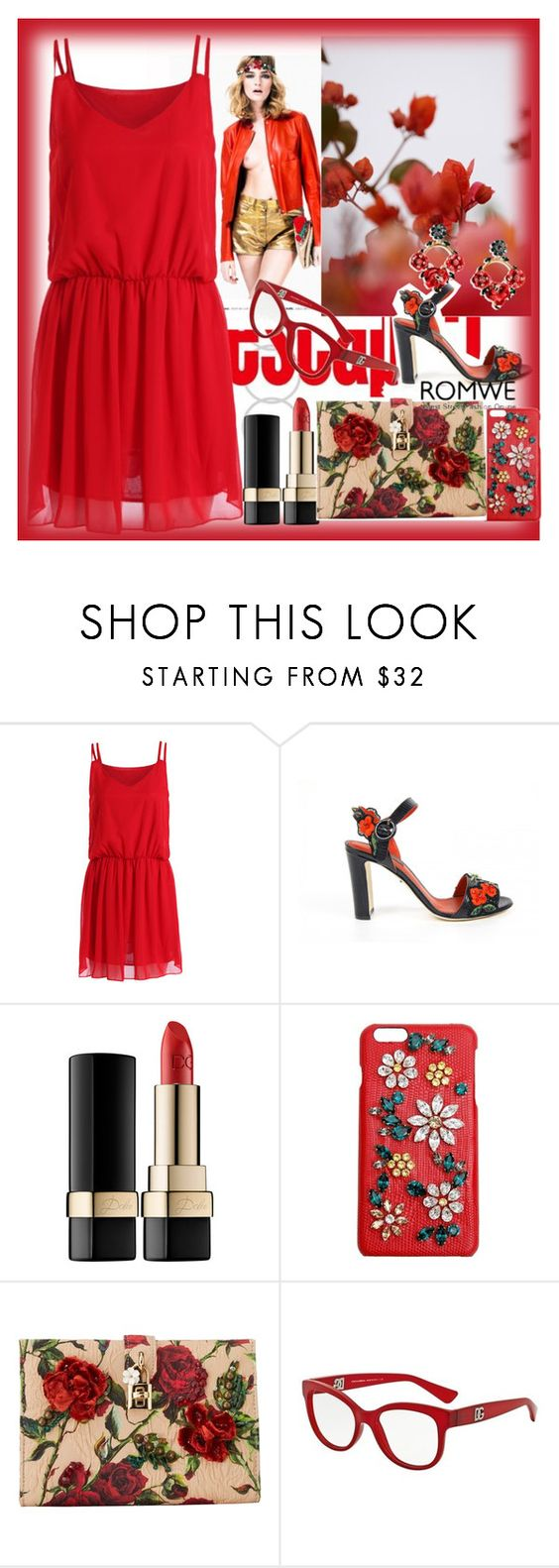"""Romwe"" by loveliest-back ❤ liked on Polyvore featuring GUINEVERE and Dolce&Gabbana"