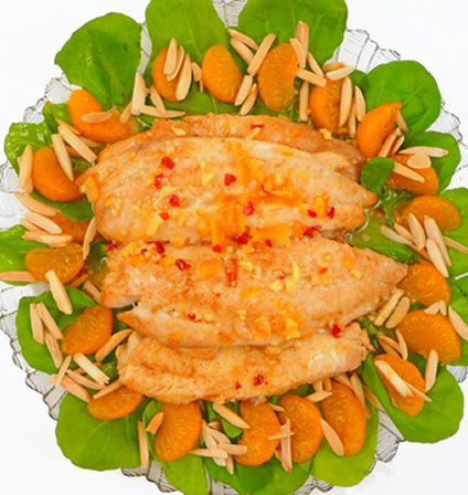 If you do not have much time, this is a quick and easy recipe, which gives mouthwatering results. There are only a few ingredients in this baked tilapia recipe but the finished result tastes like something you might get in a restaurant. The mayonnaise and mustard combine for a rich, piquant sauce and the nuts add a wonderful crunchiness.