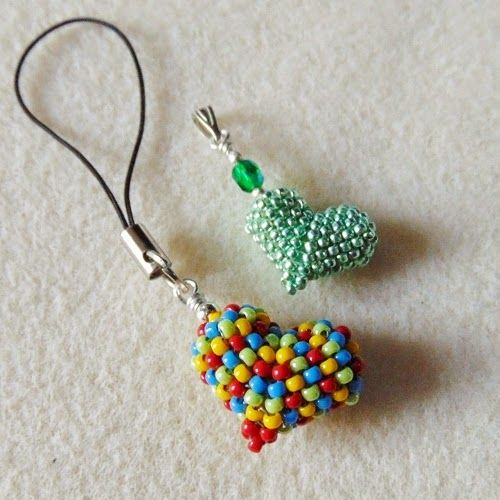 ... Because I weave three three ...: mikroserduszko of beads - step by step tutorial: