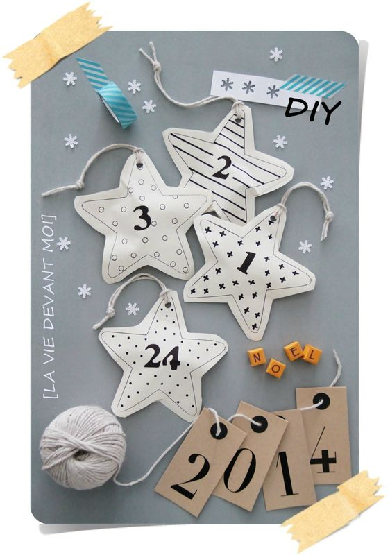 Messages and bricolage on pinterest - Fabriquer un calendrier de l avent facile ...