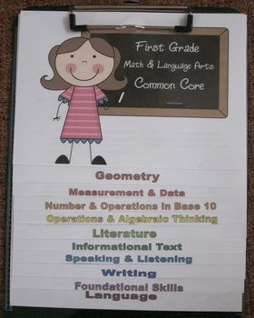 Common Core Clipboard Flipchart Resource (1st Grade) would be cool if there was a 2nd grade version....