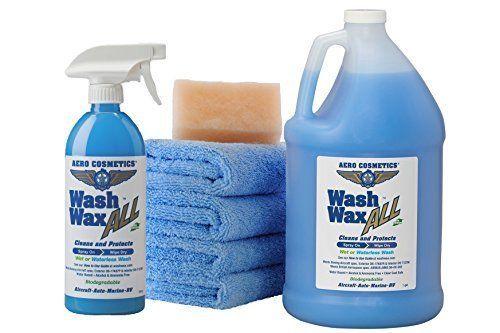 Aero Cosmetics Wet Or Waterless Car Wash Wax Kit 144 Ounces Aircraft Quality Aerocosmetics