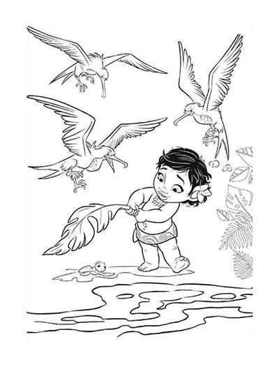 Baby Moana Coloring Pages Photos