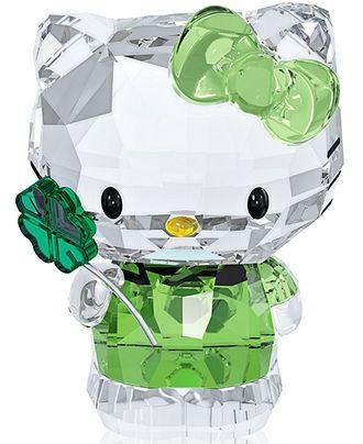 Swarovski Hello Kitty Lucky Charm Collectible Figurine - Collectible Figurines