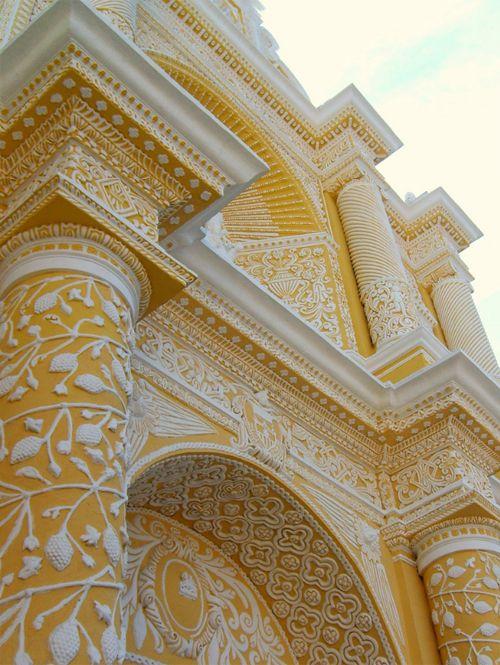yellow architecture