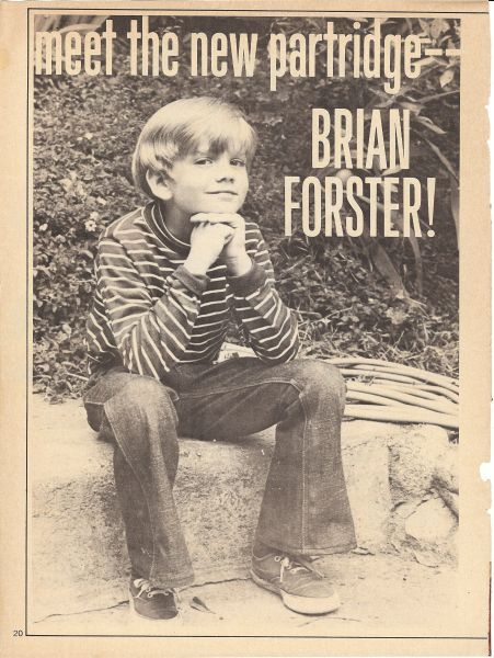 Brian Forster - Partridge Family   Favorite TV Shows of ...