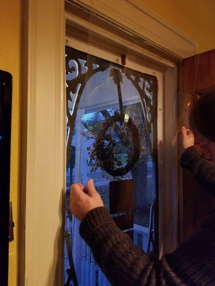 How To Weatherproof Your Vinyl Or Wood Screen Door Wood Screen Door Wood Screens Sliding Screen Doors