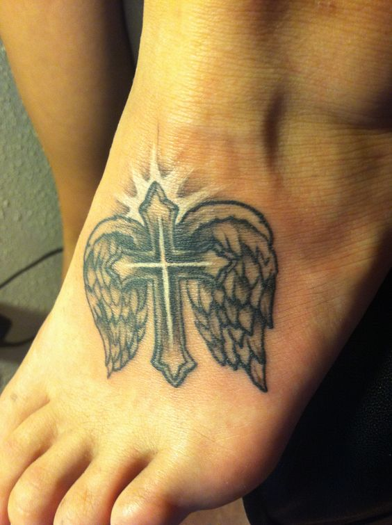 Cross Wings Tattoos: Cross With Wings Tattoo, I Will Have This One Day