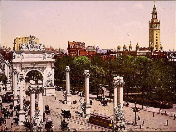 Colourised New York c.1900
