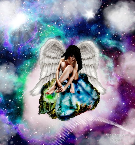 Angel in space