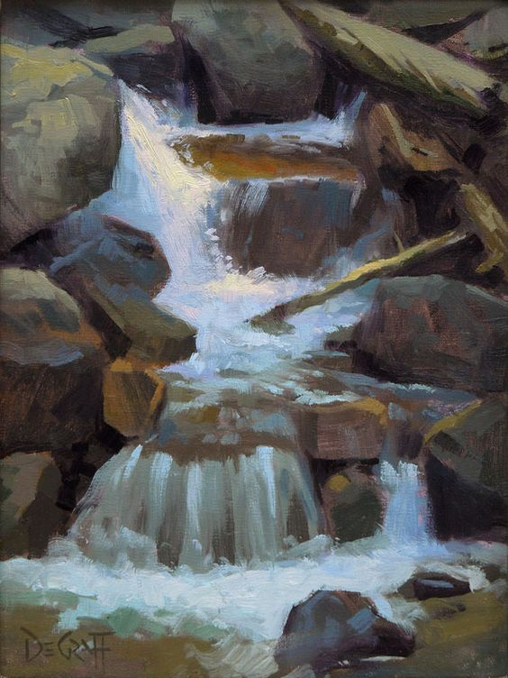 Calypso Cascade by Larry DeGraff Oil ~ 12 x 9