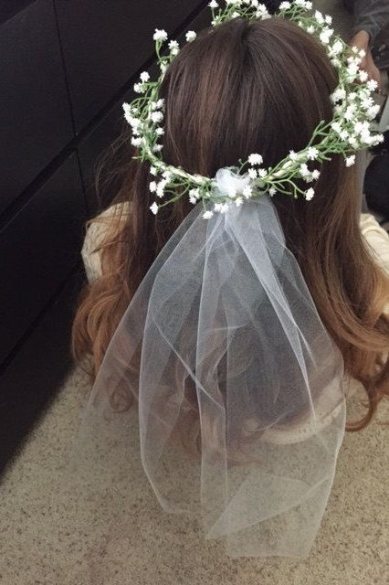 Not your ordinary bachelorette crown! Super cute, fashionable babys breathe bachelorette with veil. If you would like fuller longer veil (pictures 4 and 5) add option for $4 more. These are artificial flowers. Due to the nature of the headband being for special occasions I can not
