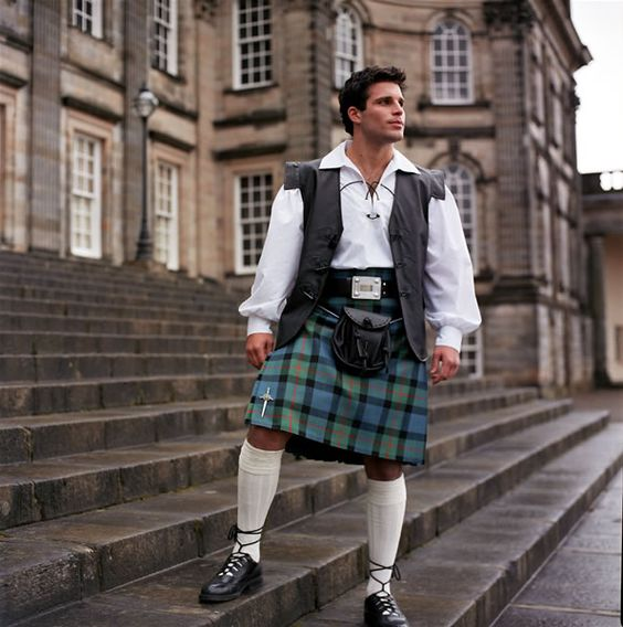 Forget plain ol jeans, tight skinny jeans, cargo pants, shorts, etc. I'll take a guy in a KILT!