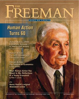 $9.99 at the FEE Store - The Freeman September 2009: Human Action's 60th Anniversary Edition