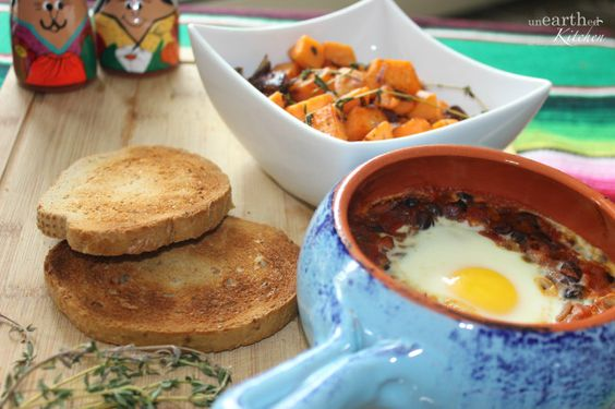 Baked Eggs and Sweet Potato Hash | i LOVE food | Pinterest | Baked ...