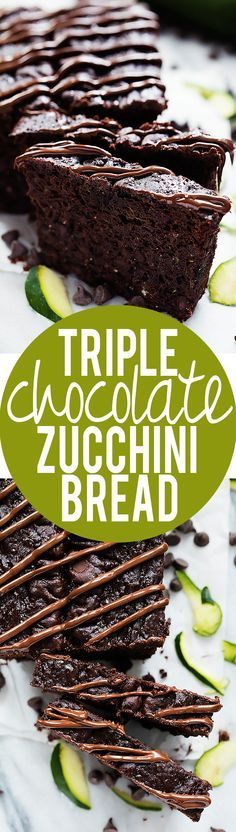 Triple Chocolate Zucchini Bread - Ellen: WONDERFUL. This is the BEST chocolate cake I've ever had. (Supposed to be bread but I made it into a cake instead.) I'm freezing shredded zucchini so that I can make this when zucchini is out of season! It's now the family favorite for chocolate cake.