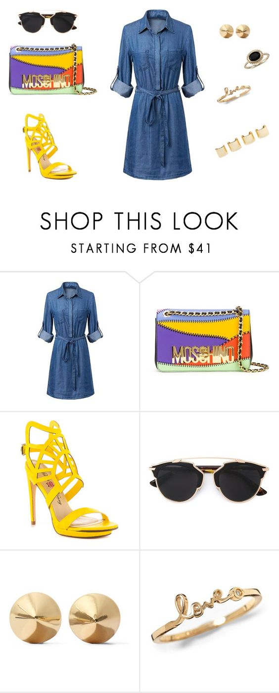 """spring, spring, spring"" by jovanovic-ivana on Polyvore featuring Moschino, Penny Loves Kenny, Christian Dior, Eddie Borgo, Luv Aj, Blue Nile, women's clothing, women, female and woman"
