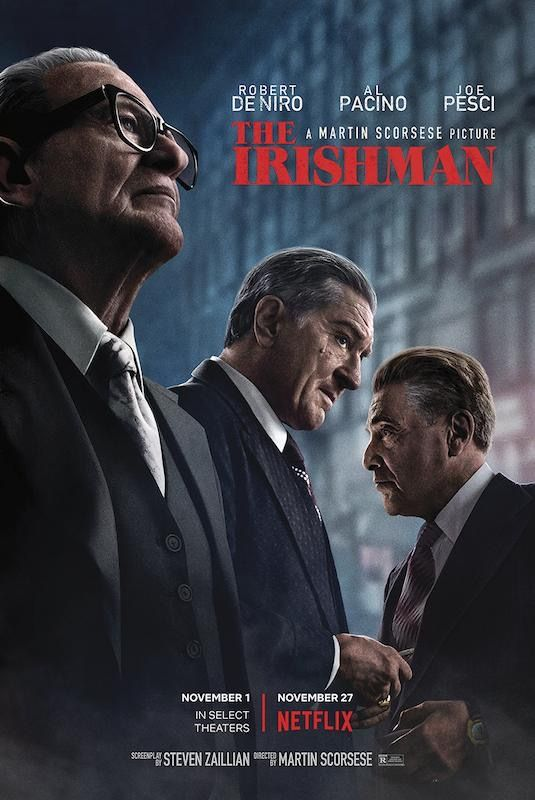 The Irishman Movie Poster 24 X 36 With Images Martin Scorsese