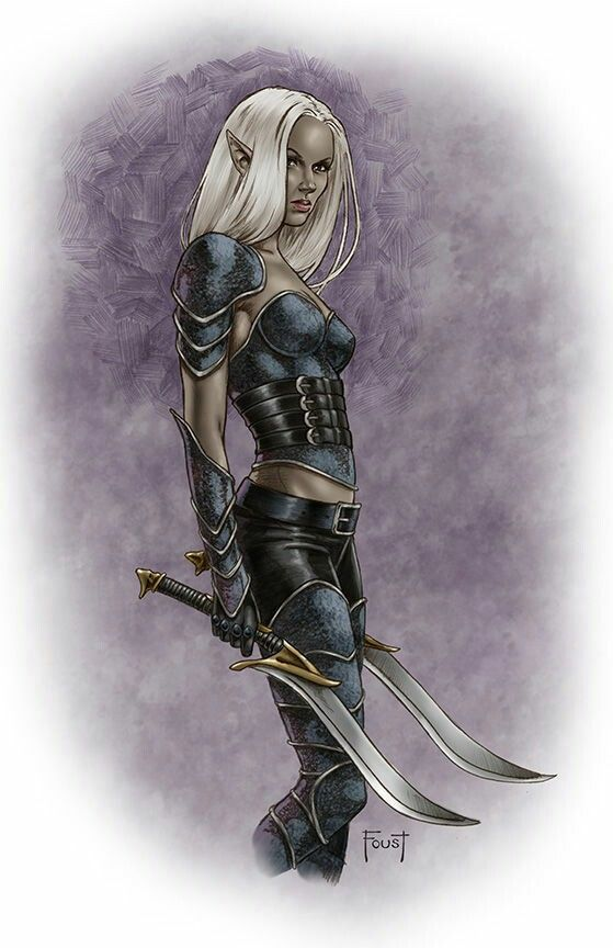 Dark Elf Warrior Fantasy Art