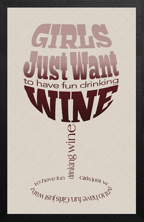 Word Art Typography Poster Custom Wine Quote by amjdesignhaus, $18.00