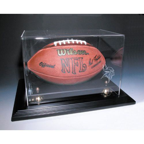 Minnesota Vikings NFL Zenith Football Display Case (Mahogany)