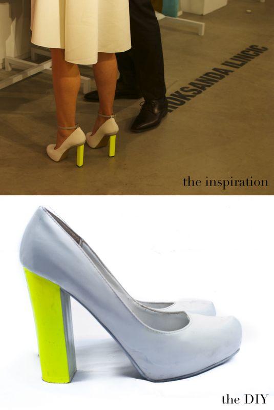 DIY: neon heels