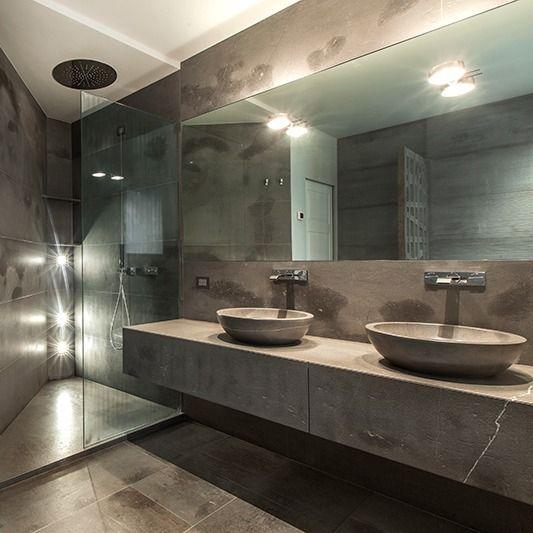 Bagno In Pietra Di Fossena Bagno Moderno Lavabi In Appoggio