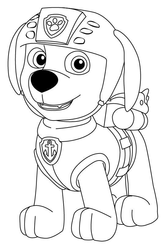 Desenhos De Patrulha Canina Para Imprimir E Colorir Em 2020