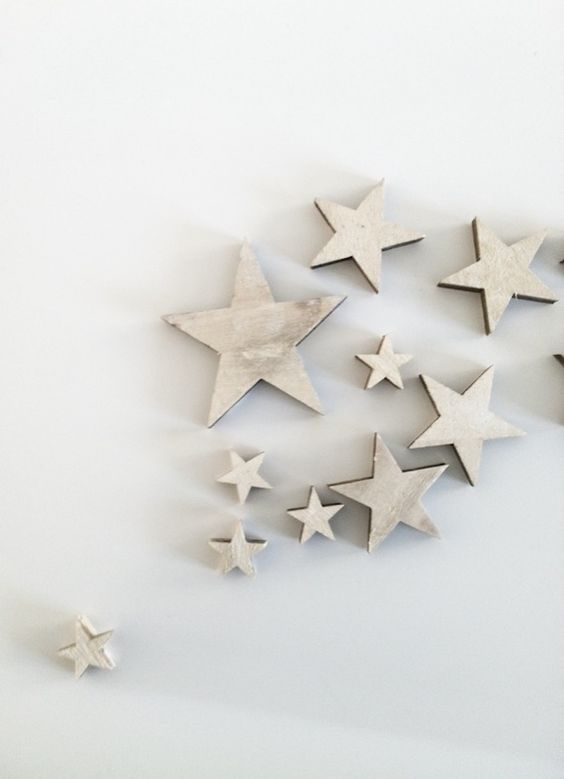 Christmas | Xmas | Jul | Noel. Decoration. Ornaments. White Stars