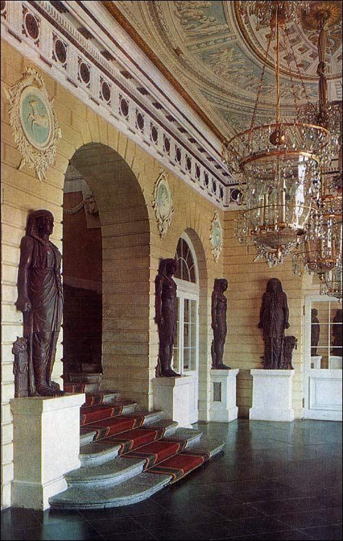 Egyptian Vestibule at Pavlovsk. Pavlovsk Palace & Park - Country Residence of the Russian Imperial Family