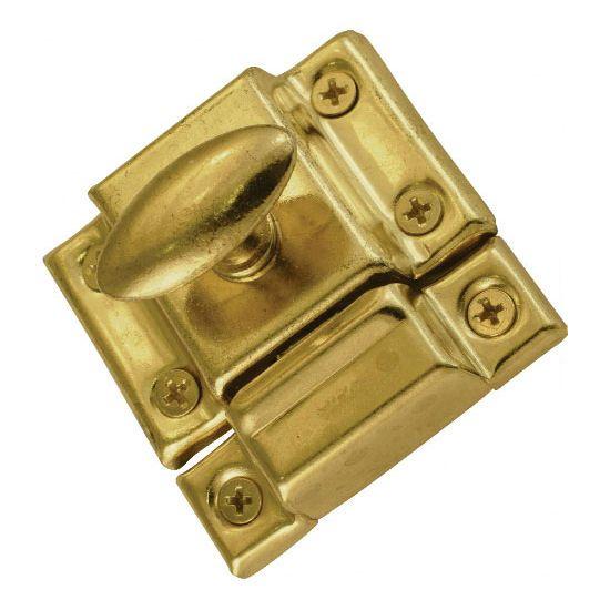 Door Catch 2 3 16 Twist Brass Plated With Screws C21 C43005bp Door Latch Door Catches Hardware
