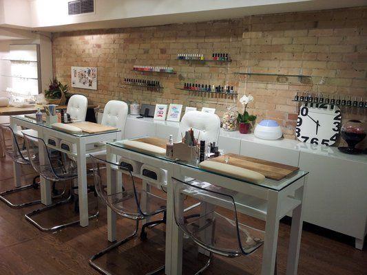 manicure bar  Nail salon ideas  Pinterest  LED, Manicuras y Bar