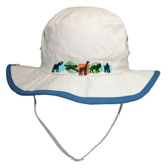 CTM Kids Cotton Animal Sun Bucket Hat with Snap Up Brim