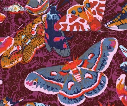 Field Study Butterfly Moth, Viva, Anna Maria Horner Cotton Fabric: