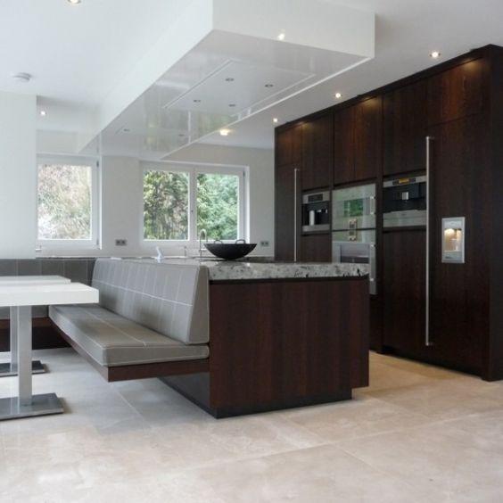 Keuken tafel evenwijdig aan eiland door kaatiel eethoek pinterest tes doors and om - Open keuken idee ...
