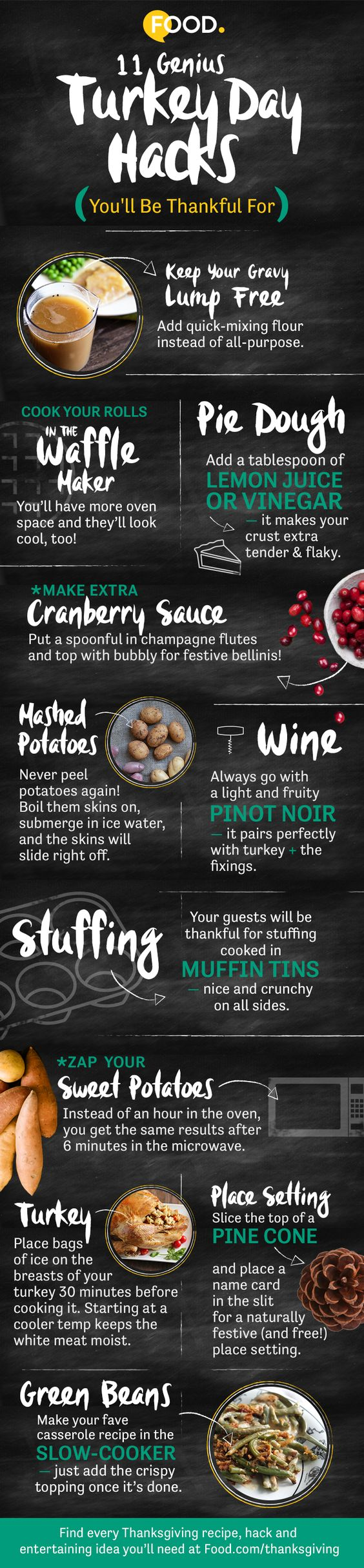 Want to win Thanksgiving this year? Get our 11 most genius hacks and tricks for surviving the big day.