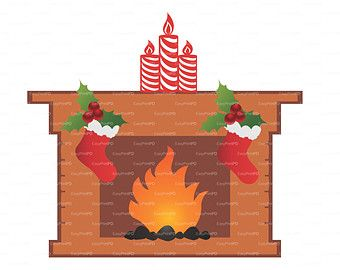 Sale 50% Christmas Fireplace Stockings Sock Boot Candle svg, dxf, ai, eps, png 3D Cutting die cut elements Silhouette Cameo EasyCutPrintPD
