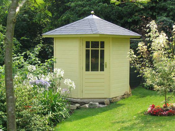 Pinterest the world s catalog of ideas for Corner garden shed designs