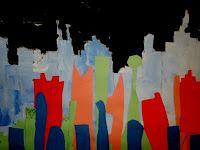 Cityscape / mixed media