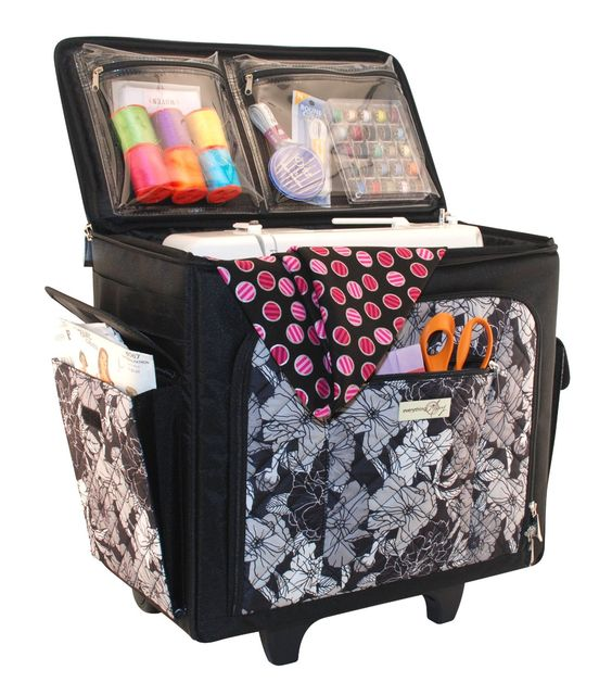 Amazon Com Everything Mary Sewing Machine Rolling Tote
