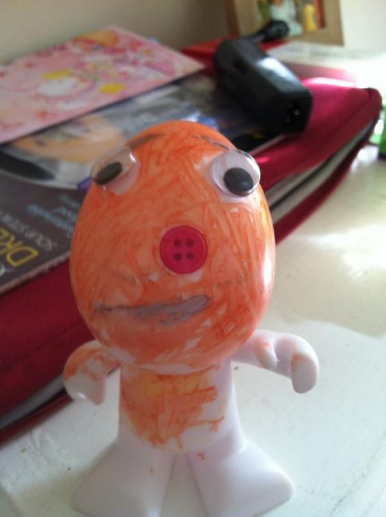 Learning looks like.. Coloring an Easter egg guy (niece's masterpiece)  From @Lhowe100