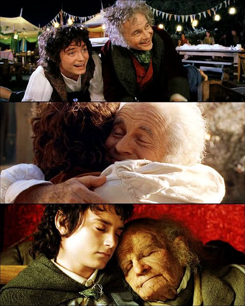 """Bilbo once told me his part in this tale would end… that each of us must come and go in the telling. Bilbo's story was now over. There would be no more journeys for him… save one."":"