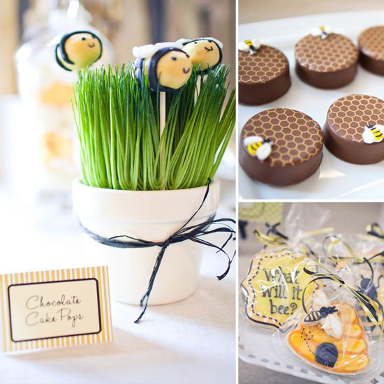 Bee Themed Party - article is specific to Gender Reveal Party - but the things are adorable enough for any party with some minor modifications.
