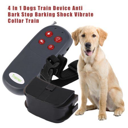 4 In 1 Dogs Train Device Anti Bark Stop Barking Shock Vibrate