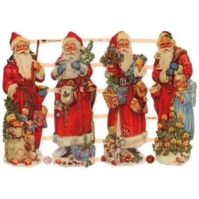Large Santa with Toys Scraps ~ Germany ~ New for 2012