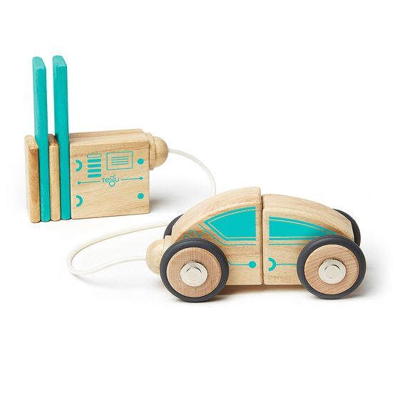 $40 This magnetic block set forms an electric car and more.