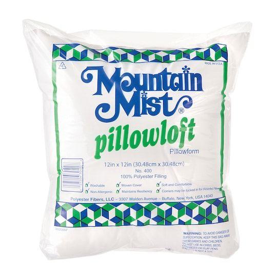 Mountain Mist 12 X 12 Pillowform Nonallergenic Poly Cotton 2 Pack Michaels Pillow Forms Custom Pillow Cases Mists