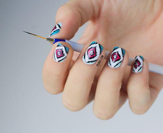 Ikat nail art tutorial | Pshiiit